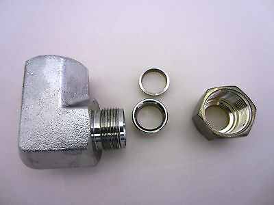 """SS Instrumentation Female Elbow, 1/2"""" Tube X 3/8"""" FNPT, compatible SS-810-8-6"""