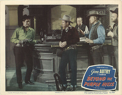 Beyond the Purple Hills 1950 Original Movie Poster Action Western