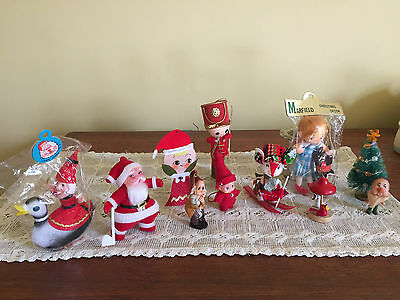 Cute Bunch Of 11 Assorted Vintage Christmas Ornaments Most Japan Good  Condition