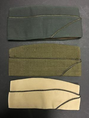 Lot of 3 US Military OVerseas Hats, Size 7 1/4, Vintage - BL66