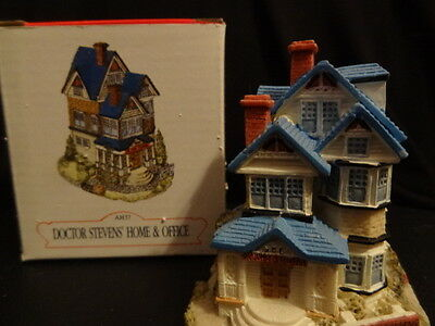"""1993 Liberty Fall """"doctor Steven Home & Office"""" Christmas Western Village Figure"""