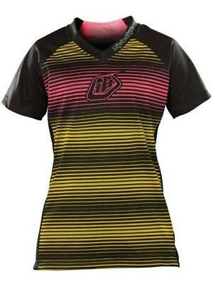 Troy Lee Designs Women Skyline Jersey Black With Yellow and Pink Size Large