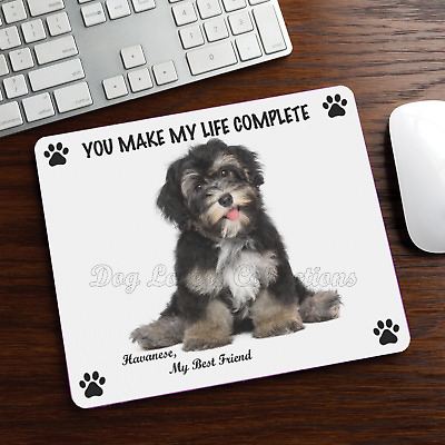 New Design Cute Adorable Funny HAVANESE Dog Puppy Rubber Computer MOUSE PAD Mat