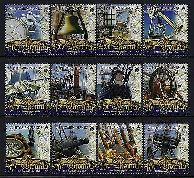 2007 Pitcairn Island The Bounty Definitives Complete Set Of 12 Fine Mint Mnh/muh
