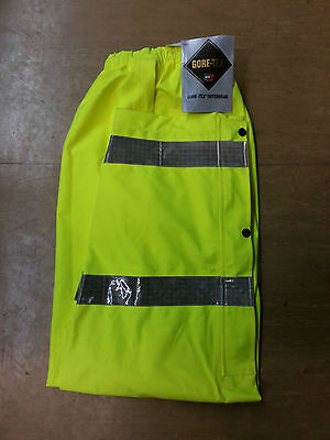 NEW Ex Police Waterproof Gore-Tex Hi Vis Over Trousers Size Small Long SL