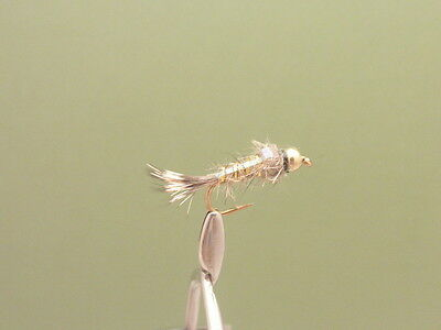 Mixed 10//12 Trout /& Grayling Fly 8 Gold Head Full Flash Hares Ear Fishing flies