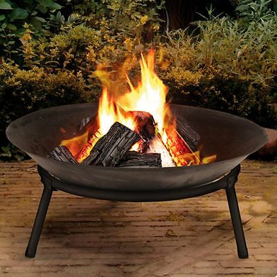 Cast Iron Fire Bowl Firepit Garden Outdoor Modern Stylish Fire Pit Ambience