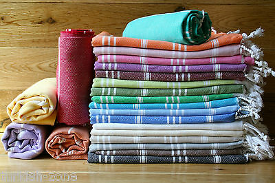 Turkish Hammam Hamam Peshtamal Peshtemal Cotton Bath Towel Gift Beach Uk Stock
