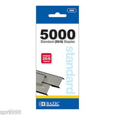 5000 Standard Staples(26/6) Stationary for school or Office needs #608