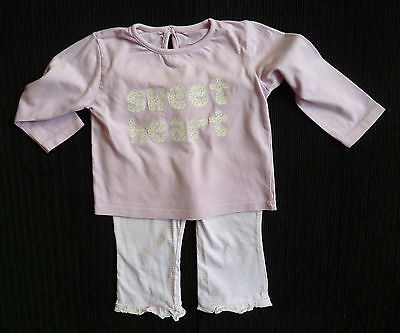 Baby clothes GIRL 6-9m Cherokee soft brushed cotton pink pyjamas COMBINE POSTAGE
