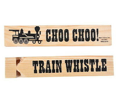 "3 New Wooden Train Whistles Wood Whistle Almost 6"" Fast Shipping Party Carnival"