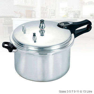 Aluminium Kitchen Pressure Cooker Catering Steamer Rice Food Cooking 3/5/7/9 Ltr