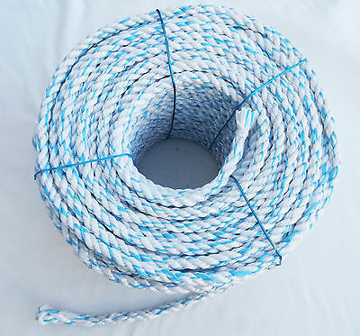 White/Blue Poly Rope Polypropylene Agriculture Camping Sailing