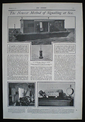 Wireless Submarine Telephony / Telegraphy Telephone Station Ship Sea Bell 1901