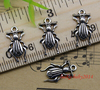 20/60/100pcs retro Jewelry Making DIY Lovely insects alloy charms pendant 9x17mm