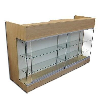 """6' MAPLE Wooden Knockdown Showcase/ POS Counter 21""""D x 42""""H"""