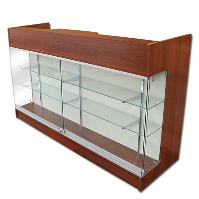 "6' Cherry Wooden Knockdown Showcase/ POS Counter 21""D x 42""H"