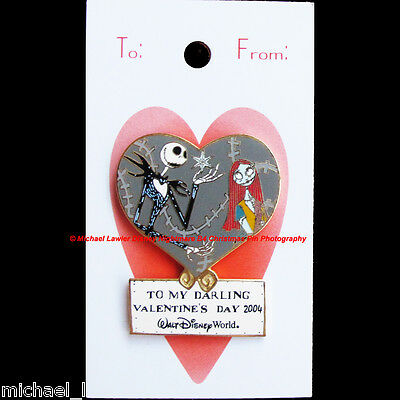 Disney Wdw Sweetheart Collection Jack & Sally Pin Valentine's Day Nightmare