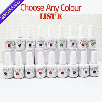 HARMONY GELISH Soak Off UV LED Gel Polish - Choose ANY Colour 15ml 0.5oz* LIST E