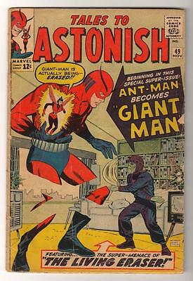 Marvel TALES TO ASTONISH 49 CENT Mid high grade GIANT MAN AVENGERS 3.5 VG-