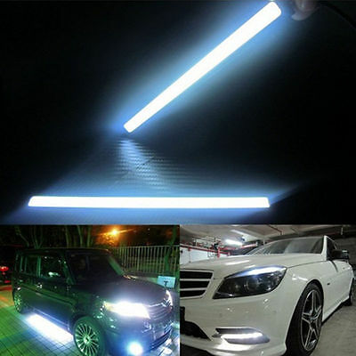 2x Waterproof Super Bright COB Car LED Lights 12V For DRL Fog Driving Lamp White