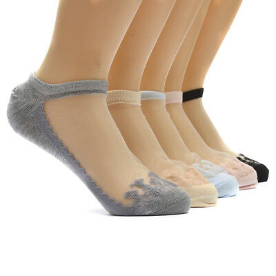 1 Pair Women Ladies Sexy Ultra-Thin Lace Ruffle Frilly Elastic Short Ankle Socks