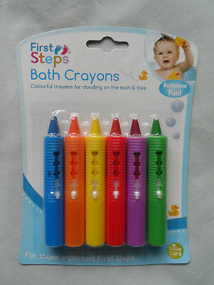 Baby Bath Crayons Pack Of 6 Non Toxic Fun Toy Easy Washable