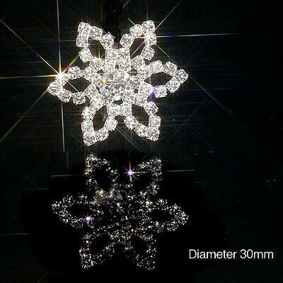 10 Large Flower Rhinestone Diamante Embellishments Approx Ideal For Invitations