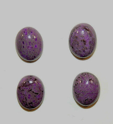 Sugilite Cabochons 8x10mm set of 4 from South Africa  (9467)