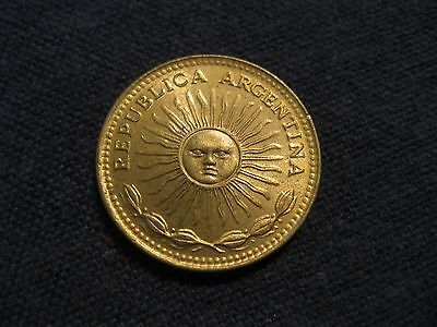 "197_  Argentina One Peso coin  ""BLAZING SUNFACE"",   XF to BU,  sweet coins"