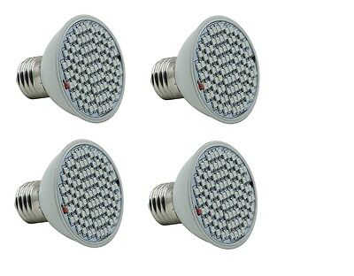 4 pack 10w Equivalent grow light bulb 102 led red blue dual spectrum Hydroponics