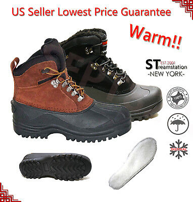 LM Men's Insulated Winter Snow Boots Shoes Warm Lined Thermolite Waterproof 1002
