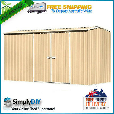 ABSCO ECO-nomy 3.74m x 1.52m GABLE ROOF GARDEN SHED 2 DOOR Premier Style MERINO
