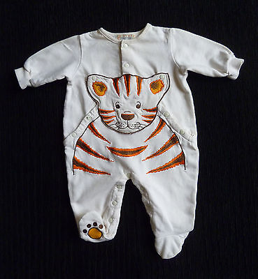 Baby clothes UNISEX BOY GIRL newborn 0-1m fleece-lined pramsuit tiger cotton