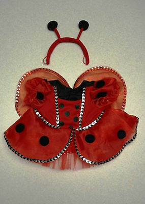 """Teddy Bear LADYBUG Costume with WINGS CLOTHES Fit 14-18"""" Build-a-bear !!NEW!!"""