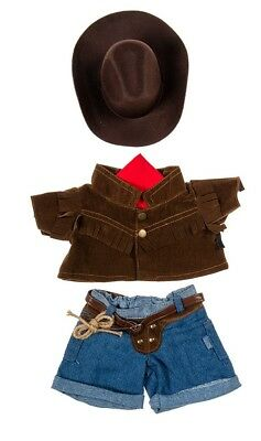 "Teddy Bear COWBOY Outfit w/ BROWN HAT CLOTHES Fit 14""-18"" Build-a-bear !!NEW!!"