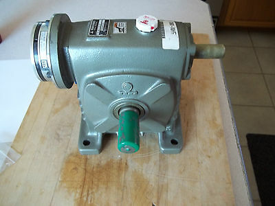 Makishinko Wr80 Right Angle Worm Gear Speed Reducer 15:1 Ratio With Keb Brake
