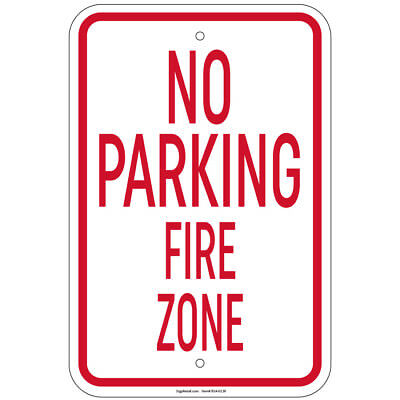 """Heavy Gauge No Parking Tow Away Zone Sign 12/"""" x 18/"""" Aluminum Signs Retail Store"""
