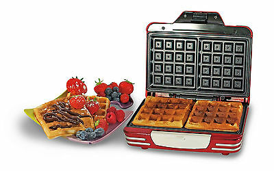 Brand New Ariete Waffle Maker Non Stick Coating Make Your Own Waffles