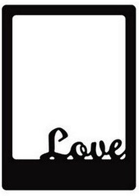 Love - Sweet Frames die - for use in most cutting systems