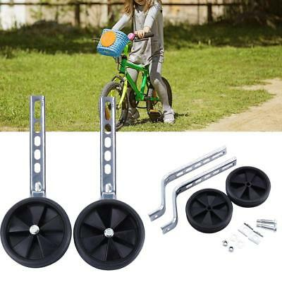 "Black 12- 20"" Inch Kids Stabilisers Training Wheels For Children Bicycle Cycling"