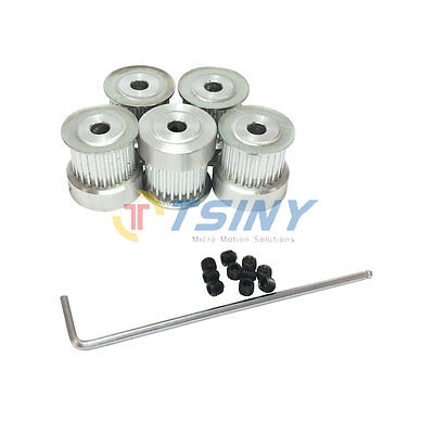 5pcs HTD 3M Timing Pulley 24Teeth Bore 6mm 6.35 8mm 10mm 12mm 14mm for 15mm Belt