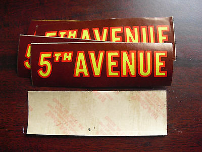 Lot of 8 Vintage 1950s 5th Avenue Candy Bar Store Display Stickers LOOK