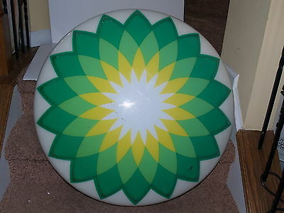 """BP GAS HELIOS LIGHTED SIGN 36"""" - cover only - No light"""
