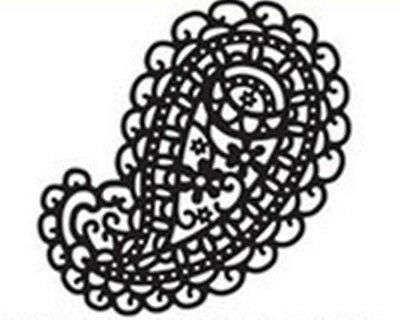 Large Pretty Paisley die - for use in most die cutting systems
