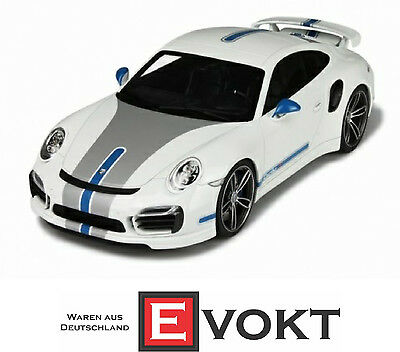 GT Spirit Porsche 911 (991) Turbo S Techart White Model Car 1:18 Genuine New