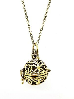 Witch Ball Pendant Rosemarys Baby Protection Ball Bronze Tone Necklace