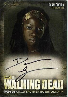 WALKING DEAD SEASON 3 PART 1 Autograph Card by Danai Gurira A8