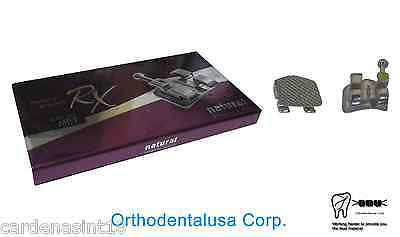 Set X 2 (40) Orthodontic Bracket Mbt Rx .022'' W/H 3,4,5 Mim  Microetched Mesh
