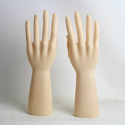Left And Right One Pair PVC Male Mannequin Hand For Gloves Display